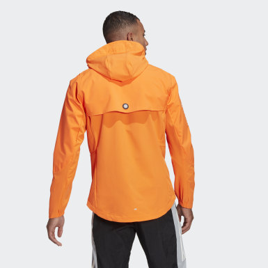 Men Running Orange WIND.RDY Jacket