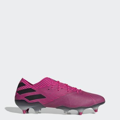 Zapatos de Fútbol Nemeziz 19.1 Terreno Suave Rosado Hombre Fútbol