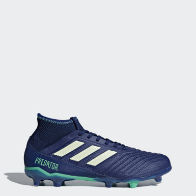 Men Football Blue Predator 18.3 Firm Ground Boots