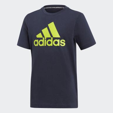 Camiseta  Badge of Sport Must Haves Azul Niño Training
