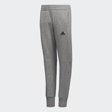 Youth Training Grey Badge of Sport 3-Stripes Joggers