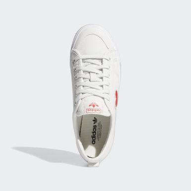 Kvinder Originals Hvid Nizza Trefoil sko