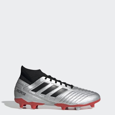 Men Football Silver Predator 19.3 Firm Ground Boots