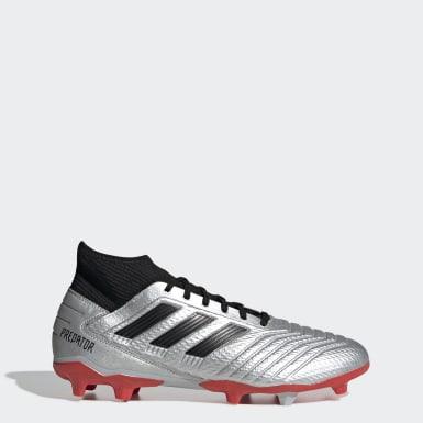 Zapatos de Fútbol Predator 19.3 Terreno Firme Plateado Hombre Fútbol