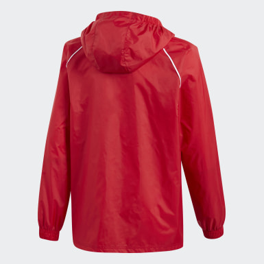 Kinder Training Core 18 Regenjacke Rot