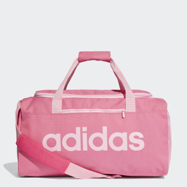 Athletics Pink Linear Core Duffel Bag Small