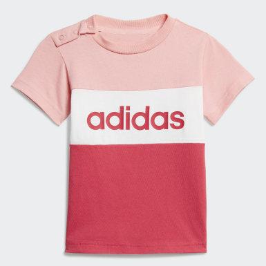 Girls Athletics Pink Colourblock sæt