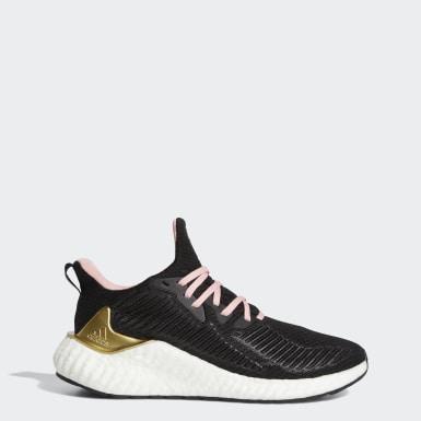 Women Running Black Alphaboost Shoes