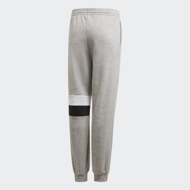 Youth Training Grey Linear Colorblock Pants