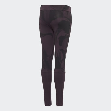 Girls Training Purple Glam On Leggings