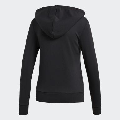 Veste à capuche Essentials Solid Noir Femmes Training