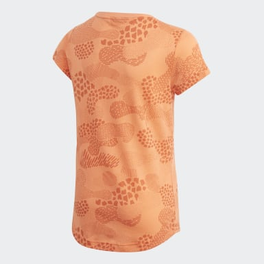 Mädchen Yoga Must Haves Graphic T-Shirt Orange