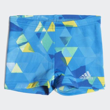 Jungen Wassersport Boxer-Badehose Blau