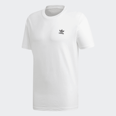 Men Originals White Trefoil Essentials Tee