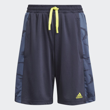 Short adidas Designed To Move Camouflage Blu Ragazzo Training