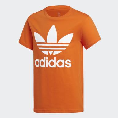 оранжевый Футболка Trefoil
