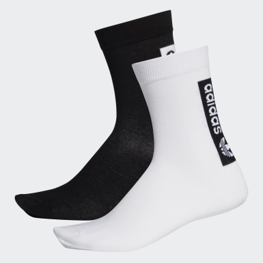 Originals สีขาว ถุงเท้าความยาวครึ่งแข้งแบบบาง (2 คู่)