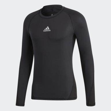 Heren Voetbal Zwart Alphaskin Sport T-shirt