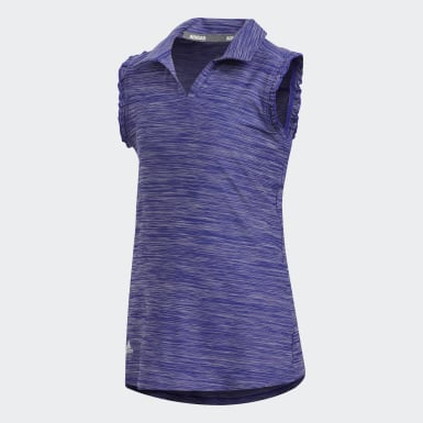 Youth Golf Purple Space-Dyed Sleeveless Polo Shirt
