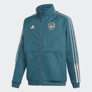 Kids Football Green Arsenal Anthem Jacket
