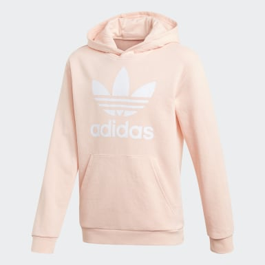 Youth 8-16 Years Originals Pink Trefoil Hoodie