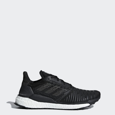 Men Running Black Solar Boost Shoes