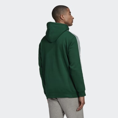 Men Originals Green 3-Stripes Hoodie