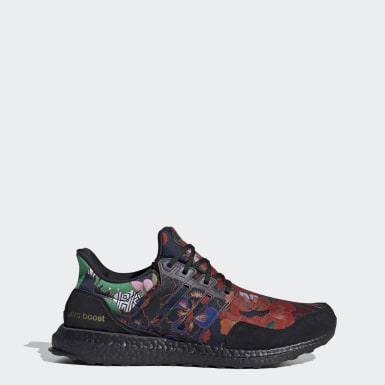 Men Running Black Ultraboost DNA YUANXIAO Shoes