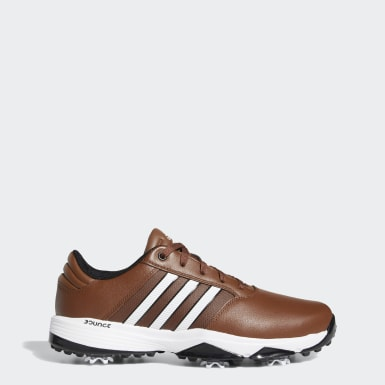Men Golf Brown 360 Bounce Wide Shoes