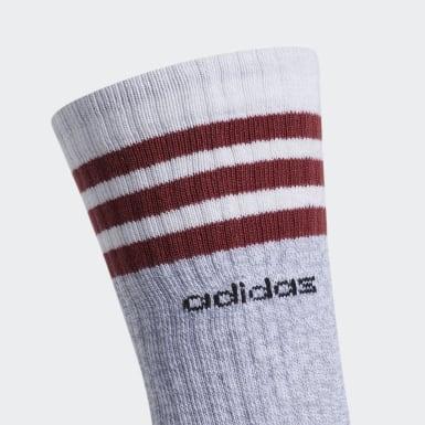 Men's Training White 3-Stripes Crew Socks 3 Pairs