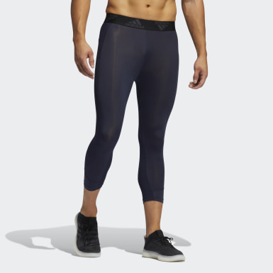 Men Running Blue Techfit 3/4 Tights