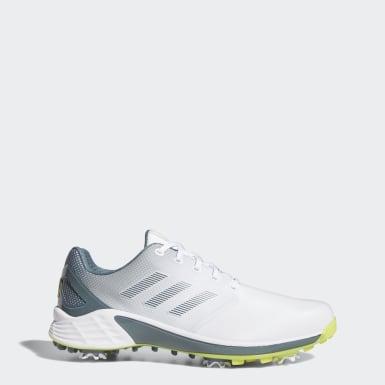 Men Golf White ZG21 Wide Golf Shoes
