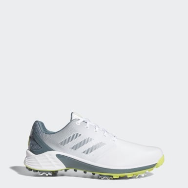 Golf White ZG21 Wide Golf Shoes