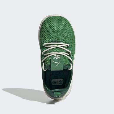 Kids Originals Green Pharrell Williams Tennis Hu Shoes