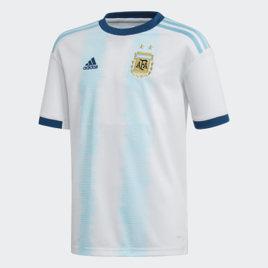 Camisa 1 Argentina Branco Meninos Futebol