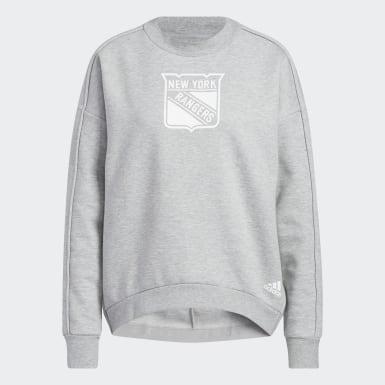 Women's Hockey Multicolor New York Rangers V2 Crew Sweatshirt