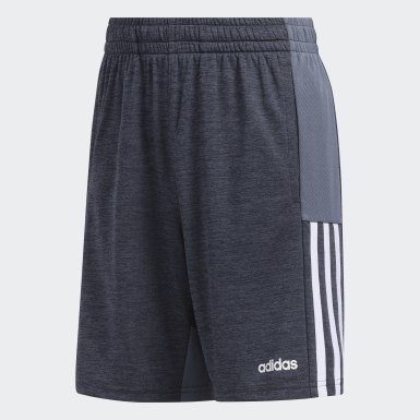 Children Training Grey Mélange Mesh Shorts
