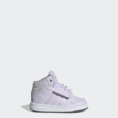 Zapatillas Hoops Mid 2.0 Púrpura Niño Essentials