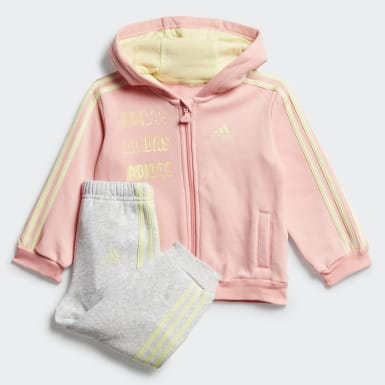 Infants Training Pink Hooded Fleece Jogger Set