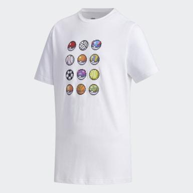 เด็กผู้ชาย Sport Inspired สีขาว เสื้อยืด Pokémon