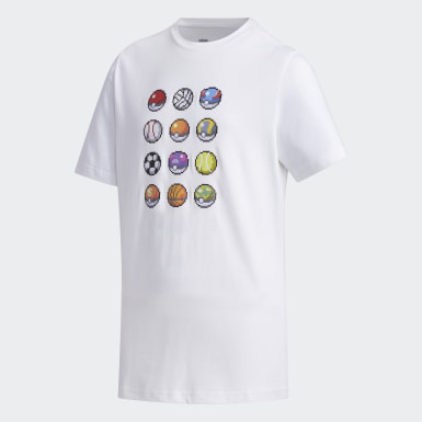 Boys Sport Inspired White Pokémon Tee