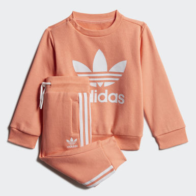 Kids Originals Orange Crew Sweatshirt Set