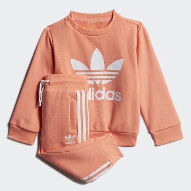 оранжевый Комплект: свитшот и брюки Crew