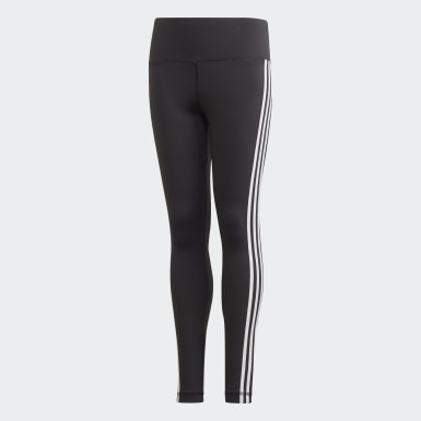 Girls Studio Black Believe This 3-Stripes Leggings