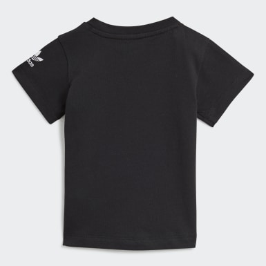 Infants Originals Black Adicolor 3D Trefoil Tee
