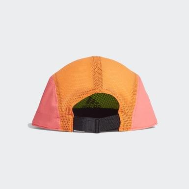 วิ่ง สีเขียว หมวกแก๊ปทรง 5-Panel สะท้อนแสงสำหรับใส่วิ่ง AEROREADY