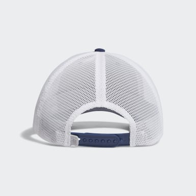 Women Golf Blue Printed Mesh-Back Hat