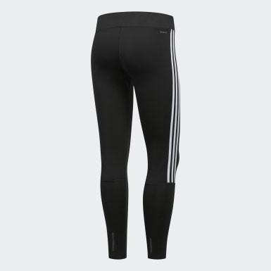 Women Running Black Running 3-Stripes Leggings