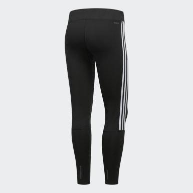 Women's Running Black Running 3-Stripes Tights