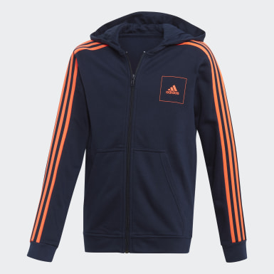 Jungen Athletics adidas Athletics Club Kapuzenjacke Blau